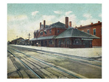 Wichita, Kansas - Exterior View of Rock Island Train Depot Print by Lantern Press