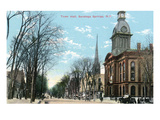 Saratoga Springs, New York - Town Hall Exterior View Posters by  Lantern Press