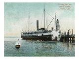 Avalon, California - Coin Divers Near the Cabrillo Ship Prints by  Lantern Press