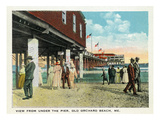 Old Orchard Beach, Maine - under the Pier Scene Posters by  Lantern Press