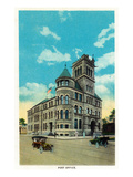 Springfield, Missouri - Exterior View of the Post Office Print by  Lantern Press