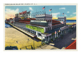 Atlantic City, New Jersey - View of Young's Million Dollar Pier Posters by  Lantern Press