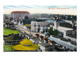 Long Beach, California - Panoramic View of the Pike Prints by  Lantern Press