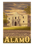 The Alamo Sunset - San Antonio, Texas Prints by Lantern Press