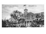 Palm Beach, Florida - Royal Poinciana Main Entrance View Prints by  Lantern Press