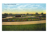 Kansas City, Missouri - View of Flower Beds in Swope Park Prints by  Lantern Press