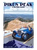 Pikes Peak, Colorado - Auto Road Scene Prints by  Lantern Press