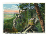 Lookout Mountain, Tennessee - View of a Trolley Riding on the Mountain Prints by  Lantern Press