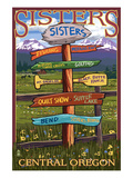 Sisters, Oregon - Sign Destinations Posters by  Lantern Press