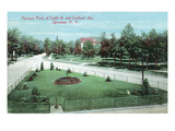 Syracuse, New York - Castle St and Cortland Ave View of Furman Park Prints by  Lantern Press