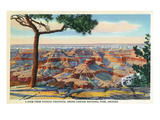 Grand Canyon Nat'l Park, Arizona - Yavapai Footpath View of Canyon Prints by  Lantern Press