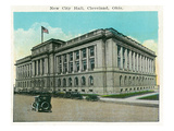 Cleveland, Ohio - New City Hall Exterior Prints by  Lantern Press