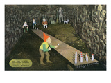 Lookout Mountain, TN - Fairyland Caverns, Interior View of Rip Van Winkle, Gnomes Bowling Poster by  Lantern Press
