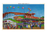 Coney Island, New York - View of the Bobsled Ride Prints by  Lantern Press