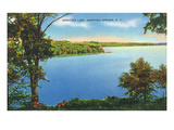 Saratoga Springs, New York - View of Saratoga Lake Poster by Lantern Press 