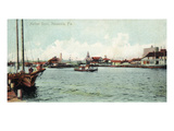 Pensacola, Florida - Harbor Scene Poster by  Lantern Press
