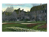 Rochester, New York - Portsmouth Terrace Tulips in Bloom Posters par Lantern Press