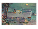 View of Canadian National Steamships Liner Lady Nelson Art by  Lantern Press