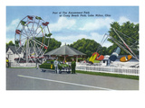 Lake Milton, Ohio - Craig Beach Park Amusement Park View Posters by  Lantern Press