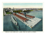 Cleveland, Ohio - East 9th Street Pier Aerial Posters by  Lantern Press