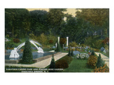 Saratoga Springs, New York - Casino Park and Italian Rose Garden View Prints by  Lantern Press