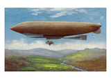 View of the French Military Flying Airship Patrie Prints by  Lantern Press