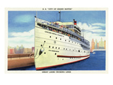 Grand Rapids, Michigan - SS City of Grand Rapids Ship Docked Prints by  Lantern Press