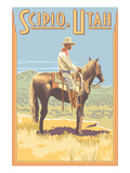 Scipio, Utah - Cowboy Side View Posters by  Lantern Press