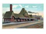 Keokuk, Iowa - Exterior View of Union Station Art by  Lantern Press