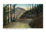 Oregon - Coastal Highway Between Gold Beach and Port Orford Poster by Lantern Press