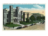 Hartford, Connecticut - Wadsworth Atheneum, Morgan Memorial, Municipal Bldg Exterior Prints by  Lantern Press