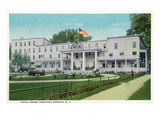 Saratoga Springs, New York - Hotel Gross Exterior View Prints by Lantern Press