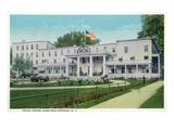 Saratoga Springs, New York - Hotel Gross Exterior View Prints by  Lantern Press