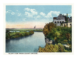 Chattanooga, Tennessee - Bluff View from the County Bridge Print by  Lantern Press