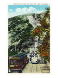 California - View of the Mt. Lowe Incline Railway Poster by  Lantern Press