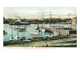 Rochester, New York - View of the River at Charlotte Near Yacht Club Pósters por Lantern Press