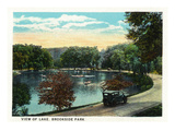 Cleveland, Ohio - Brookside Park and Lake Scene Prints by  Lantern Press
