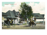 Syracuse, New York - Horse Carriages on the Boulevard Prints by Lantern Press 