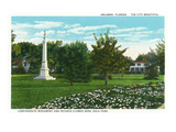 Orlando, Florida - Eola Park Confederate Monument, Petunia Flowerbeds Posters by  Lantern Press