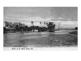 Miami, Florida - Mouth of the Miami River Scene Prints by  Lantern Press