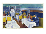 Interior View of a Santa Fe Train Dining Car Prints by  Lantern Press