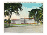 Cleveland, Ohio - Museum of Art Exterior Prints by  Lantern Press