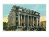 Schenectady, New York - Court House Exterior View Prints by  Lantern Press