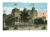 Saratoga Springs, New York - View of Grand Union Hotel Prints by  Lantern Press