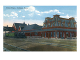 Atchison, Kansas - Exterior View of Union Station Prints by  Lantern Press