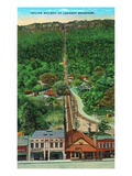 Chattanooga, Tennessee - View of the Incline Railway All the Way Up to Lookout Mountain Posters by  Lantern Press