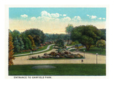 Cleveland, Ohio - Garfield Park Entrance Poster by  Lantern Press
