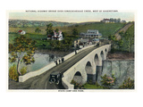 Maryland - National Road Conococheague Creek Bridge Scene West of Hagerstown Prints by  Lantern Press