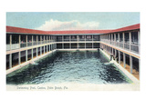 Palm Beach, Florida - Casino Swimming Pool Scene Prints by  Lantern Press