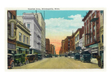 Minneapolis, Minnesota - View Down Nicollet Avenue Posters by Lantern Press